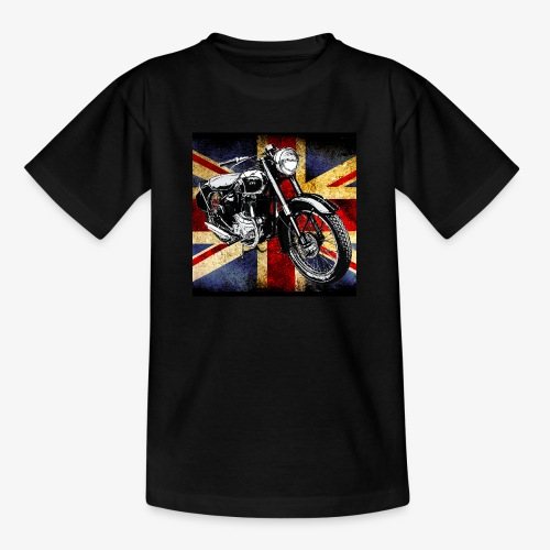 BSA motor cycle vintage by patjila 2020 4 - Teenage T-Shirt