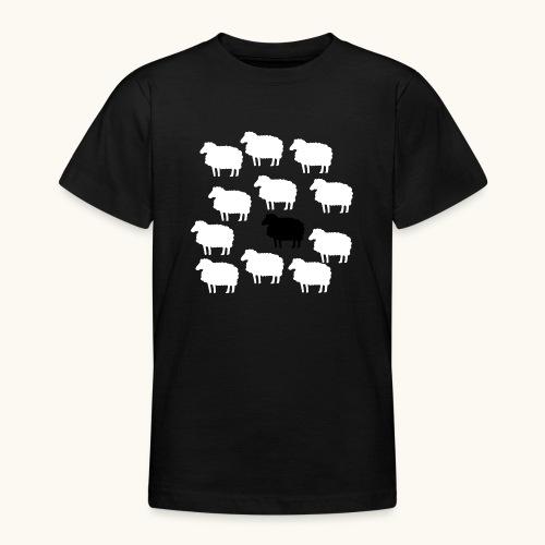 Lustige Schafherde Schwarzes Schaf Geschenkidee - T-shirt Ado