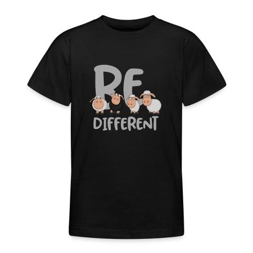 Be different Schafe: Einzigartiges schwarzes Schaf - Teenager T-Shirt