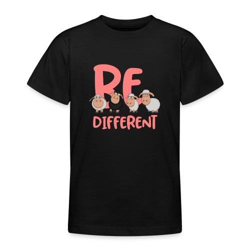 Be different pinke Schafe - Einzigartige Schafe - Teenager T-Shirt