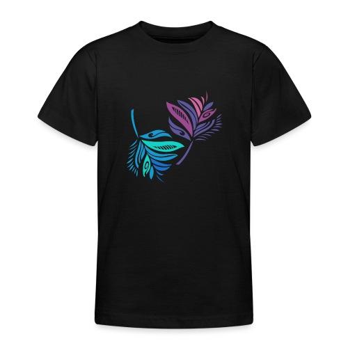 foglie geometriche - Maglietta per ragazzi