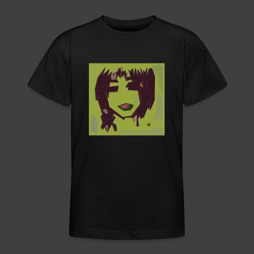 Green brown girl - Teenage T-Shirt