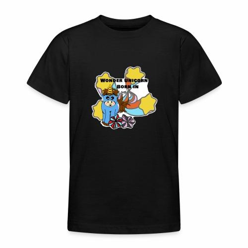 Une merveilleuse licorne est née (pour garcon) - T-shirt Ado