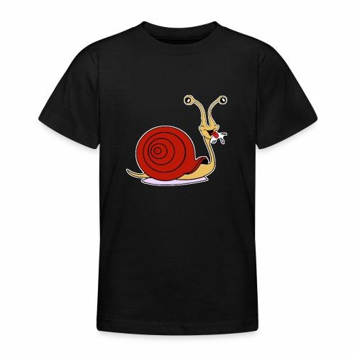 Escargot rigolo red version - T-shirt Ado