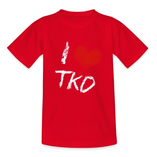 I love tkd letras blancas - Camiseta adolescente