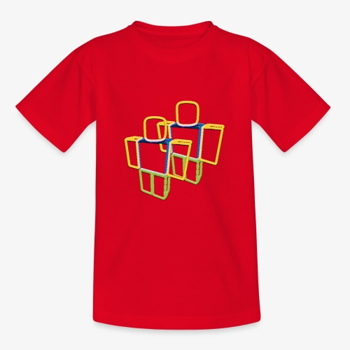 Sqaure Noob Person - Teenage T-Shirt