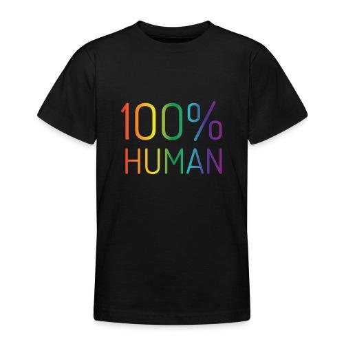 100% Human in regenboog kleuren - Teenager T-shirt