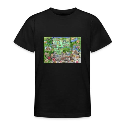 Staycation Live map - Teenage T-Shirt