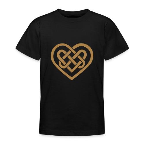 Keltisches Herz Symbol Unendlichkeit Ewige Liebe - Teenager T-Shirt
