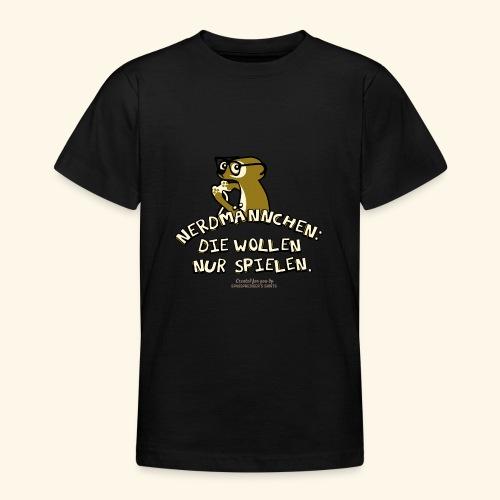 T-Shirt Nerdmännchen Erdmännchen für Geeks & Nerds - Teenager T-Shirt