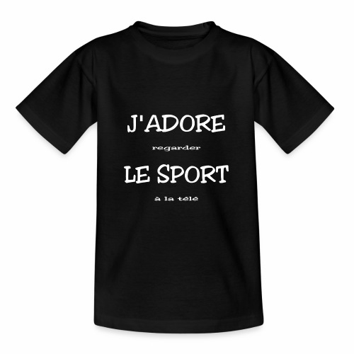 J'adore le sport, blanc - Teenage T-Shirt