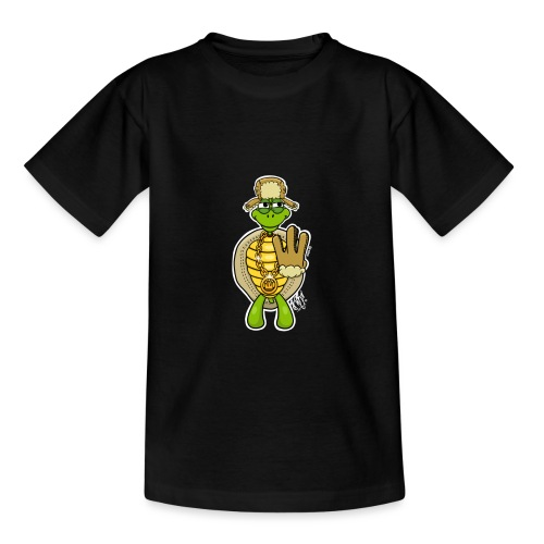 Winter West Coast Schildkröte / Hip-Hop Turtle - Teenager T-Shirt