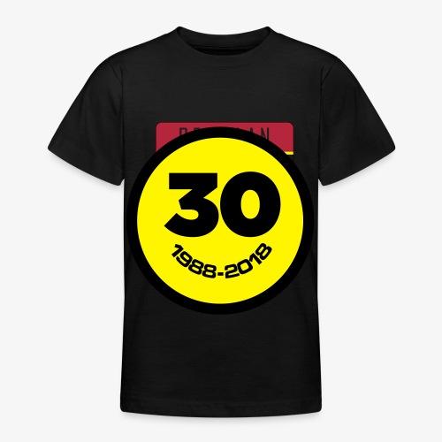 30 Jaar Belgian New Beat Smiley - Teenager T-shirt