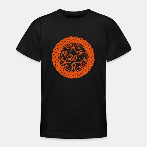 D20 Geschenk Glücksbringer Rollenspiel Würfel - Teenage T-Shirt