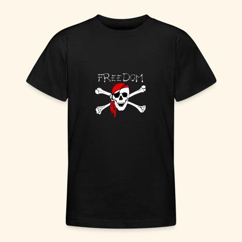 Freiheit Pirat Totenkopf - Teenager T-Shirt
