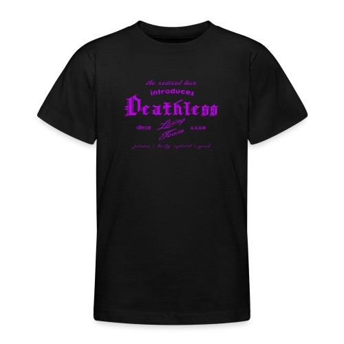 deathless living team violet - Teenager T-Shirt