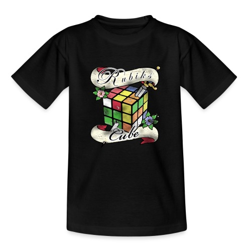 Rubik's Cube Tatoo - Teenage T-Shirt