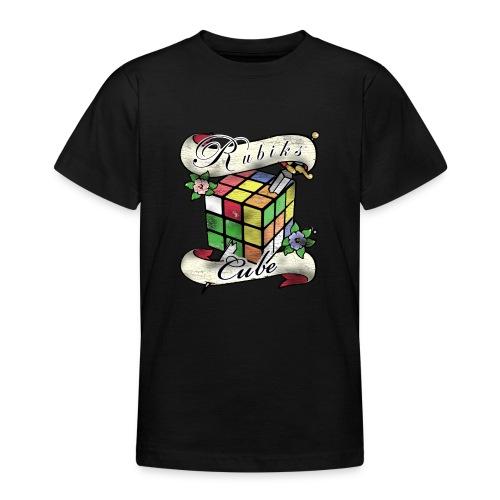 Rubik's Cube Tatoo - T-shirt tonåring