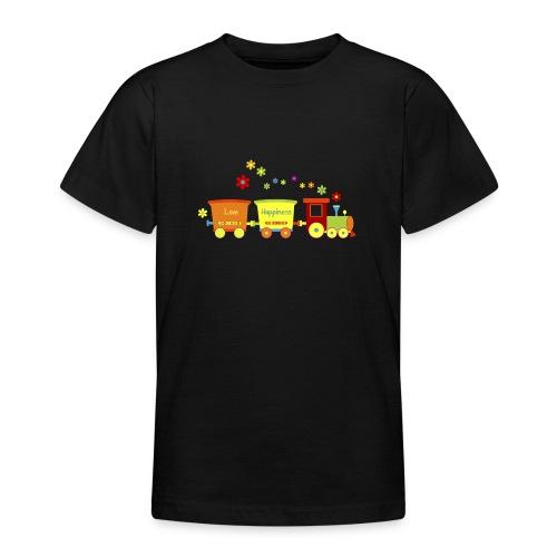 Eisenbahn Kinderspielzeug Zug Frühlingsblumen bunt - Teenage T-Shirt