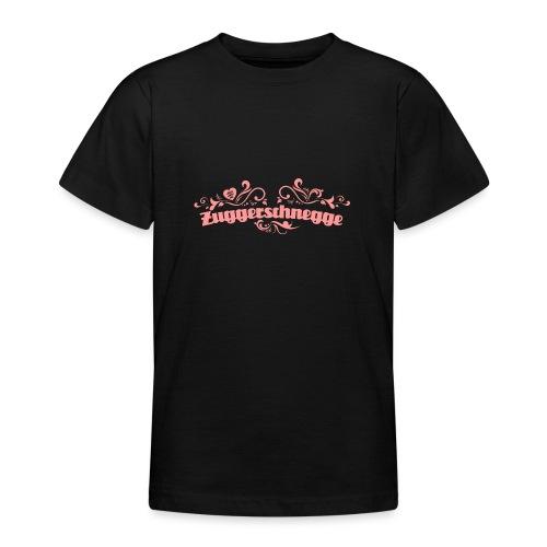 Zuggerschnegge - rosa - Teenager T-Shirt