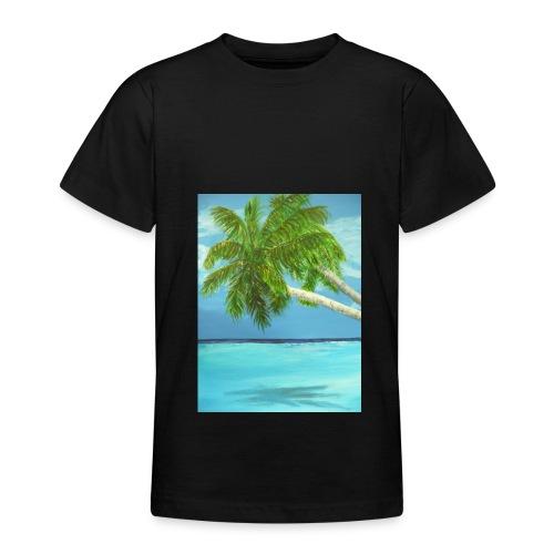 Lätzchen Palme - Teenager T-Shirt