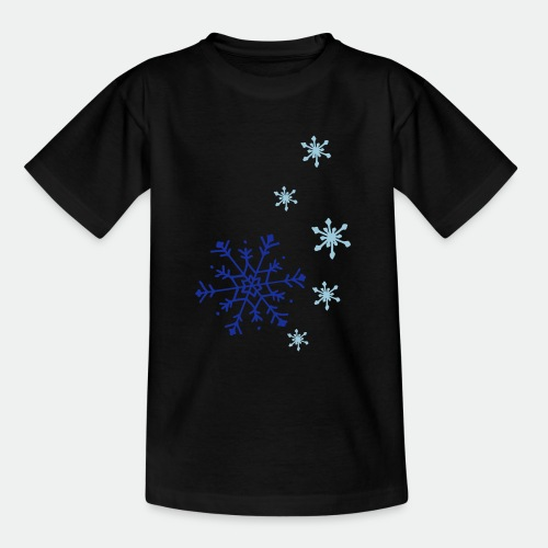 Snowflakes falling - Teenage T-Shirt