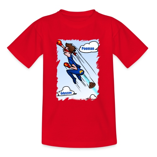 Superhero Pooman - Teenage T-Shirt