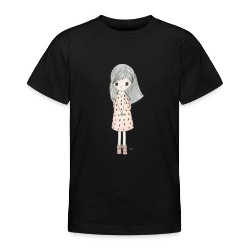 meisje met roze jurk - Teenager T-shirt