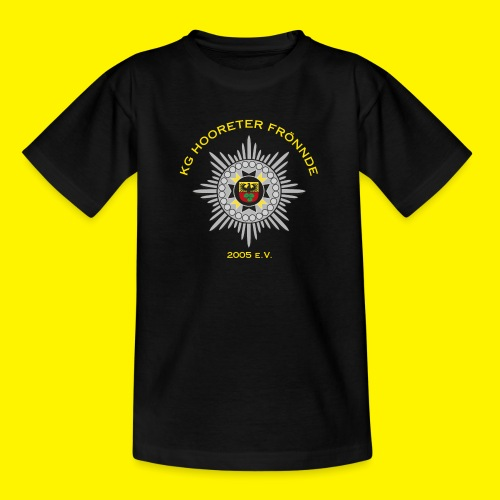 Gelbe Schrift - Teenager T-Shirt