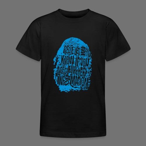 Fingerprint DNA (blue) - Teenage T-Shirt