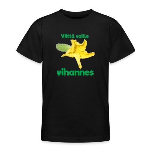 Viittä vaille vihannes, avomaankurkku - Nuorten t-paita