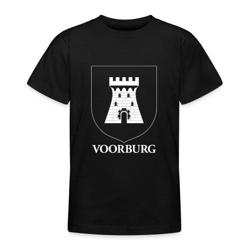Voorburg wapen diapositief wit - Teenager T-shirt