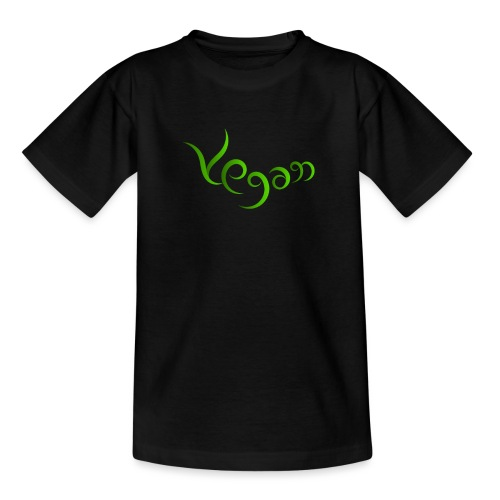 Vegaani käsinkirjoitettu design - Nuorten t-paita