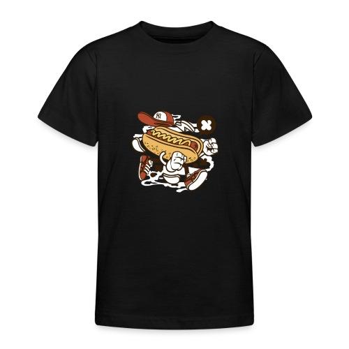 Crazy Hot Dog - T-shirt Ado