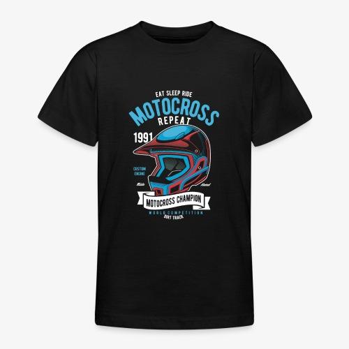 Casque de champion de motocross - T-shirt Ado