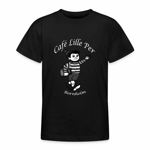Cafe LillePer Logo BW - Teenager-T-shirt