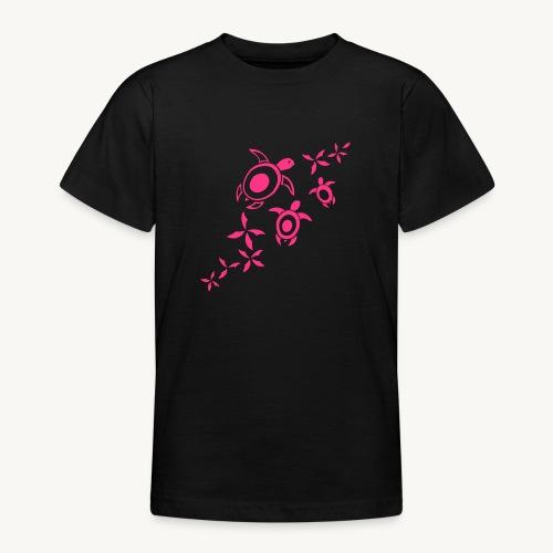 blumige Wasserschildis - Teenager T-Shirt