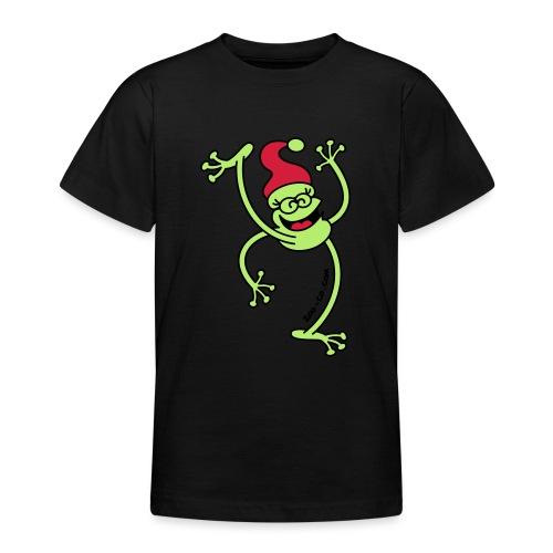 Merry Christmas Frog - Teenage T-Shirt