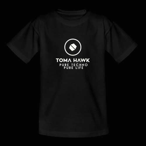 Toma Hawk - Pure Techno - Pure Life White - Teenager T-Shirt