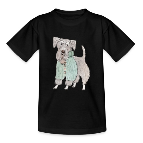 schnauzer with sweater - Teenager-T-shirt
