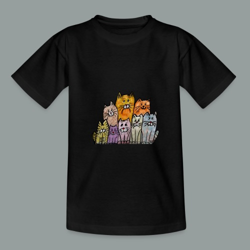 Katzenbande - Teenager T-Shirt