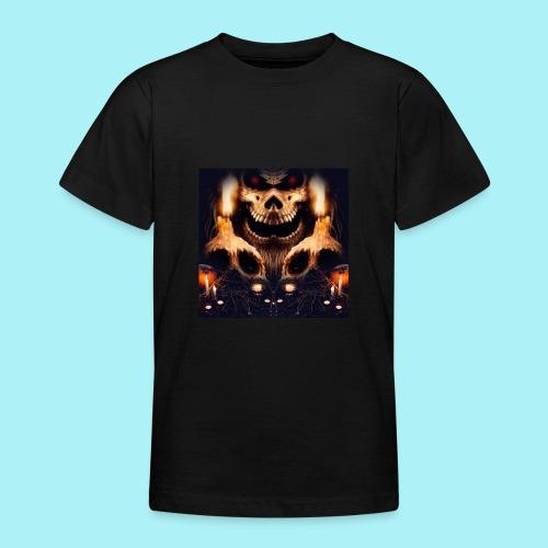 Tête de mort à la chandelle - T-shirt Ado