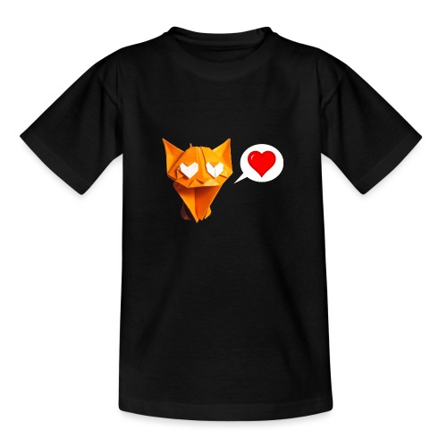 Adorable Cat Origami - Cat - Gato - Gatto - Katze - Teenage T-Shirt