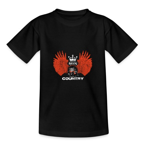 WINGS King of the country wit rood op zwart - Teenager T-shirt
