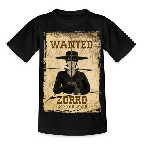 Zorro The Chronicles Western Plakat Wanted - Teenager T-Shirt