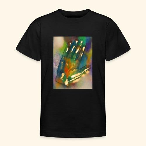 Hand in bunt - Teenager T-Shirt