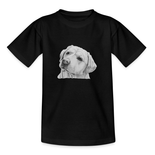 labrador retriever yellow - head - Teenager-T-shirt