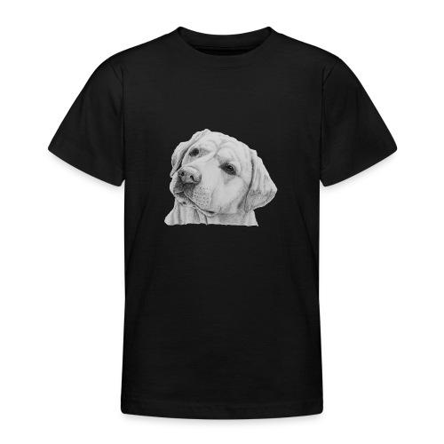 labrador retriever yellow - head - Teenager-T-shirt