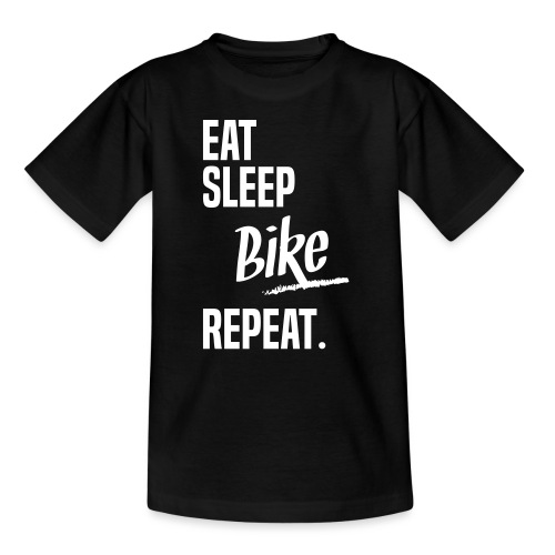 EAT SLEEP BIKE - T-shirt Ado