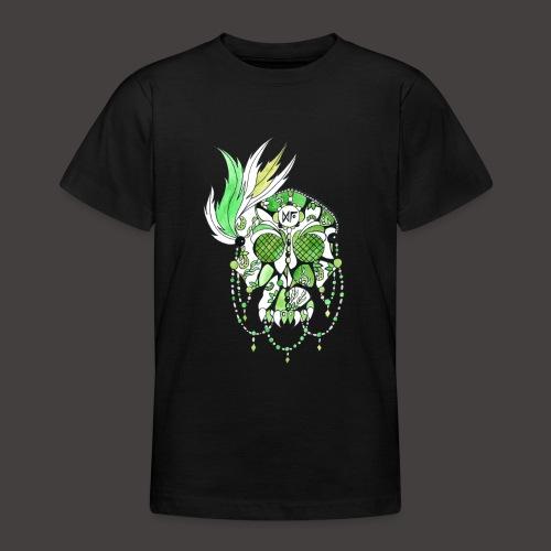 CRANE DENTELLE VERT FOND NOIR - T-shirt Ado